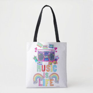 Awesome Music Is Life Saying Tote Bag