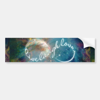 """Awesome mystic """"Live Laugh Love"""" infinity symbol Bumper Sticker"""