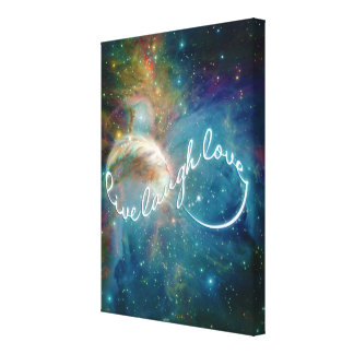 """Awesome mystic """"Live Laugh Love"""" infinity symbol Stretched Canvas Prints"""