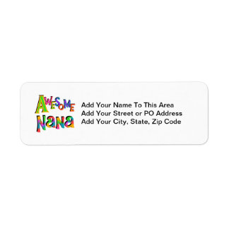 Awesome Nana T-shirts and Gifts Return Address Label