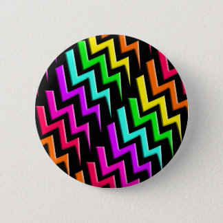 Awesome Neon Lightning Bolts Pattern 6 Cm Round Badge