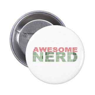 Awesome Nerd 6 Cm Round Badge