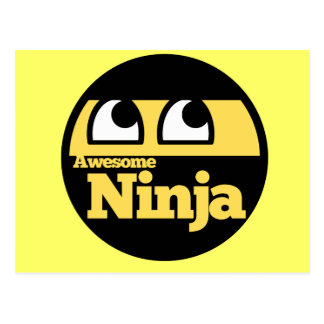 Awesome Ninja Postcard