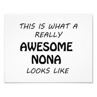Awesome Nona Photo Print
