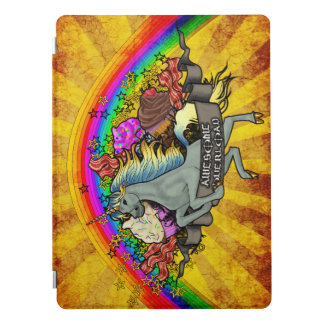 "Awesome Overload Unicorn, Rainbow & Bacon 12.9"" iPad Pro Cover"