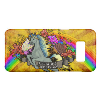 Awesome Overload Unicorn, Rainbow & Bacon Case-Mate Samsung Galaxy S8 Case