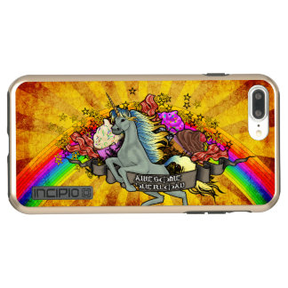 Awesome Overload Unicorn, Rainbow & Bacon Incipio DualPro Shine iPhone 8 Plus/7 Plus Case