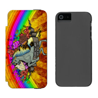 Awesome Overload Unicorn, Rainbow & Bacon Incipio Watson™ iPhone 5 Wallet Case