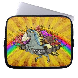 Awesome Overload Unicorn, Rainbow & Bacon Laptop Sleeve