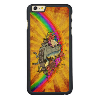 Awesome Overload Unicorn, Rainbow & Bacon Maple Carved Maple iPhone 6 Plus Case