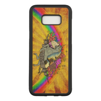 Awesome Overload Unicorn, Rainbow & Bacon Maple Carved Samsung Galaxy S8+ Case