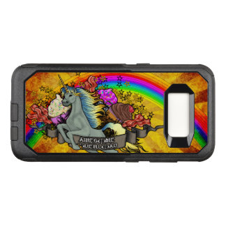 Awesome Overload Unicorn, Rainbow & Bacon OtterBox Commuter Samsung Galaxy S8 Case