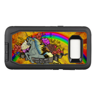 Awesome Overload Unicorn, Rainbow & Bacon OtterBox Defender Samsung Galaxy S8 Case