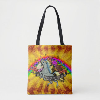 Awesome Overload Unicorn, Rainbow & Bacon Tote Bag
