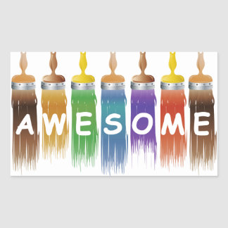 Awesome Paint effect Rectangular Sticker