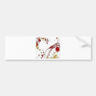 Awesome paint stains design bumper sticker