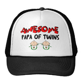 AWESOME PAPA of TWINS Hat