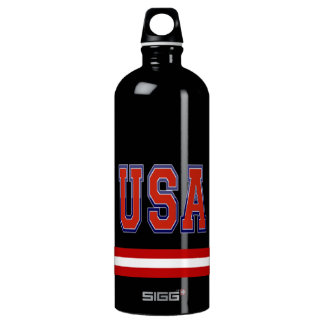 Awesome Patriotic U.S.A Red White and Blue SIGG Traveller 1.0L Water Bottle