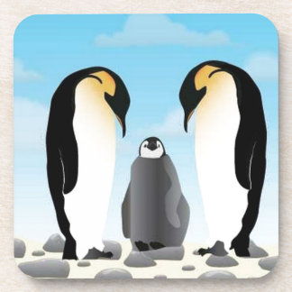 Awesome penguins beverage coasters