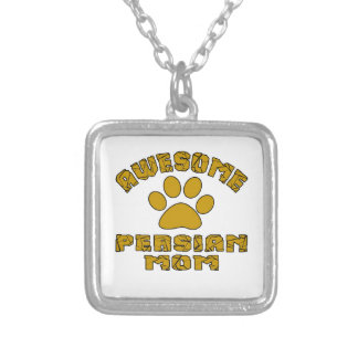 AWESOME PERSIAN  MOM SILVER PLATED NECKLACE