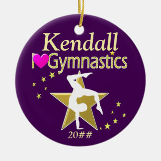 AWESOME PERSONALIZED AND DATED GYMNASTICS ORNAMENT