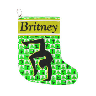 AWESOME PERSONALIZED GYMNASTICS CHRISTMAS STOCKING