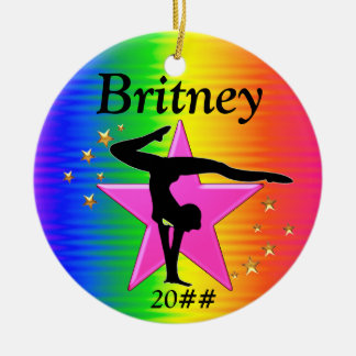 AWESOME PERSONALIZED GYMNASTICS ORNAMENT