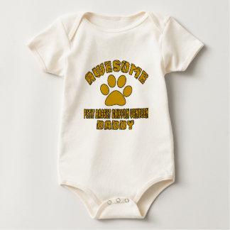 AWESOME PETIT BASSET GRIFFON VENDEEN DADDY BABY BODYSUIT