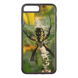 Awesome Photo Orb Spider in Web Carved iPhone 8 Plus/7 Plus Case