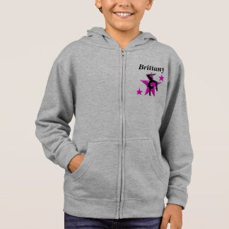 AWESOME PINK PERSONALIZED GYMNAST HOODIE