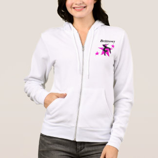 AWESOME PINK PERSONALIZED GYMNASTICS HOODIE