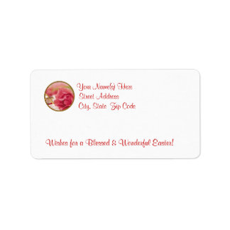 Awesome Pink Rose With Dew Return Address Labels