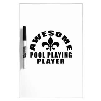 AWESOME POOL PLAYING PLAYER Dry-Erase WHITEBOARD