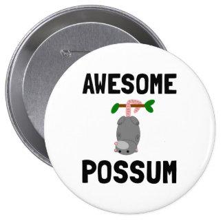 Awesome Possum 10 Cm Round Badge
