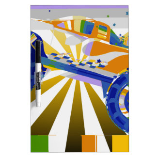 Awesome psychedelic Monster truck Dry Erase Board