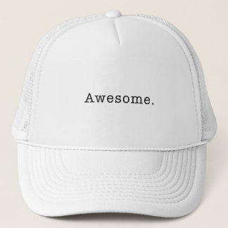 Awesome Quote Template Blank  black white Trucker Hat