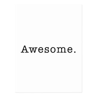 Awesome Quote Template Blank in Black and White Postcard