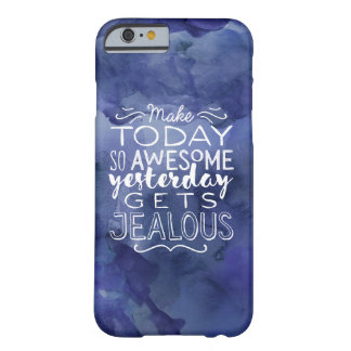 Awesome quote typography modern blue watercolor barely there iPhone 6 case