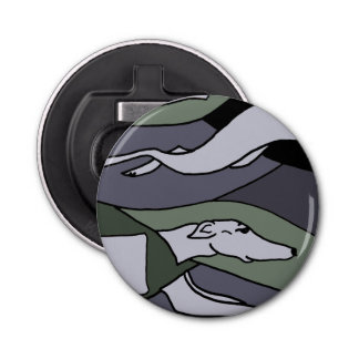 Awesome Racing Greyhound Abstract Art Bottle Opener