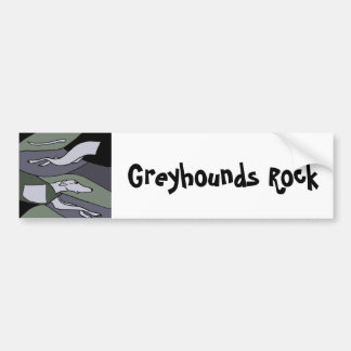 Awesome Racing Greyhound Abstract Art Bumper Sticker