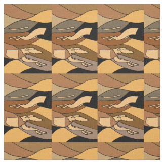 Awesome Racing Greyhound Dog Abstract Art Fabric