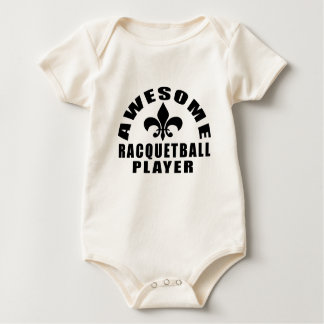 AWESOME RACQUETBALL PLAYER BABY BODYSUIT