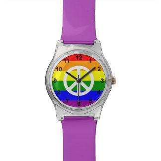 Awesome Rainbow and Peace sign Watch