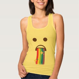 Awesome Rainbow Puking Emoji Singlet