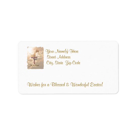 Awesome Resurrection - He Is Risen Return Address Label