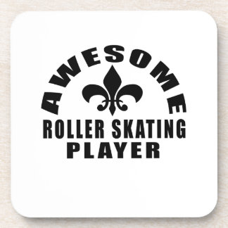 AWESOME ROLLER SKATING PLAYER COASTERS