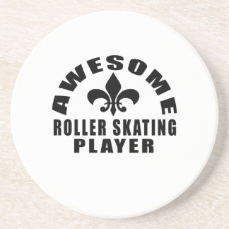 AWESOME ROLLER SKATING PLAYER DRINK COASTERS