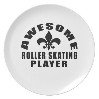 AWESOME ROLLER SKATING PLAYER PLATE