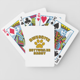 AWESOME ROTTWEILER DADDY POKER DECK