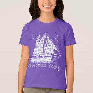 Awesome sailing! girly nautical T-Shirt